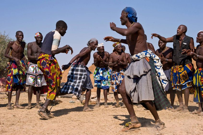 people dancing in Africa