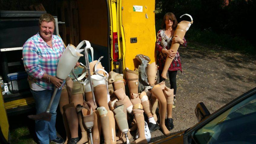 legs in a truck