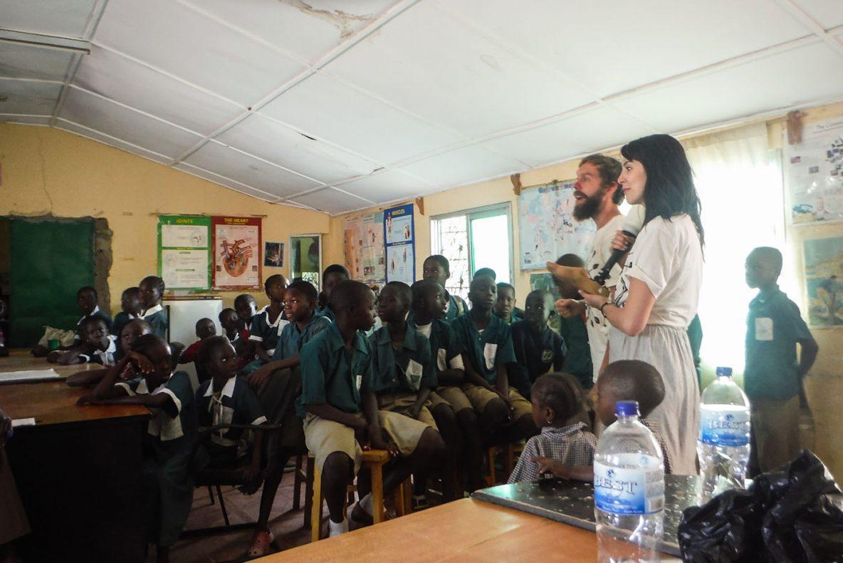 Gambian school children in a classroom
