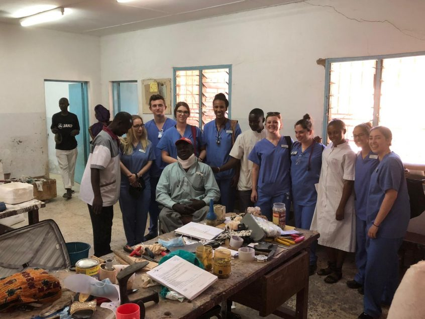 The team in Africa