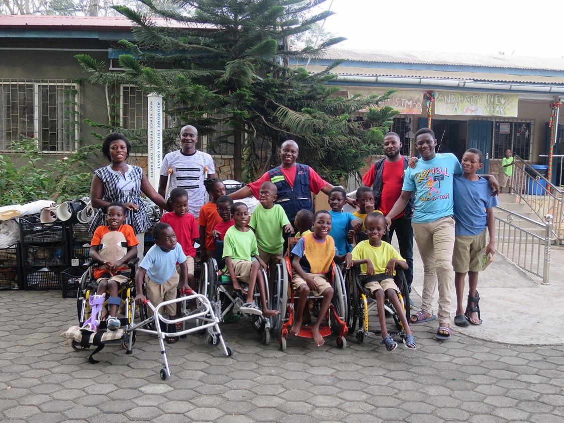 Amputee children in Ghana