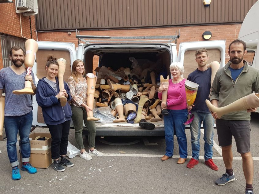 the team shot with a van full of legs